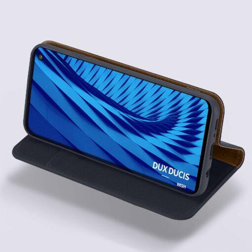 Samsung S10 kaaned nahast kaarditasku ja rahataskuga DUX DUCIS Wish must 11