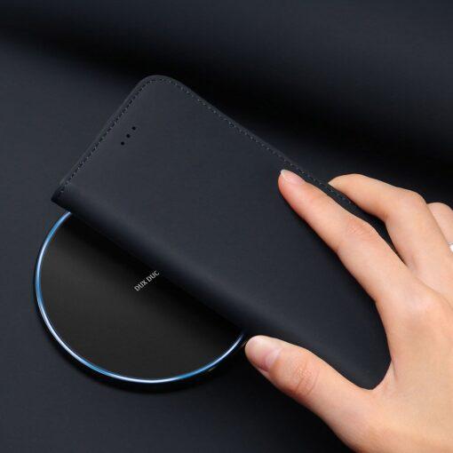 Samsung S10 kaaned nahast kaarditasku ja rahataskuga DUX DUCIS Wish must 12