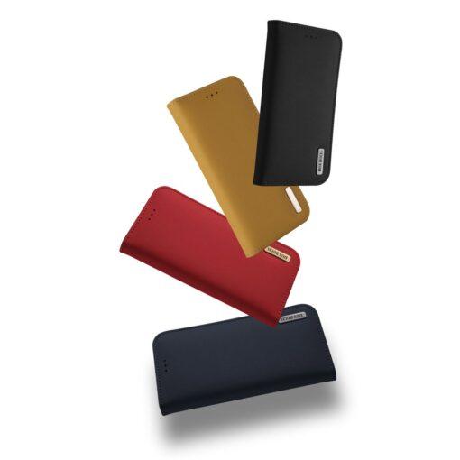 Samsung S10 kaaned nahast kaarditasku ja rahataskuga DUX DUCIS Wish must 13
