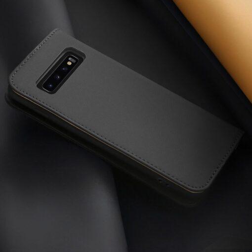Samsung S10 kaaned nahast kaarditasku ja rahataskuga DUX DUCIS Wish must 16