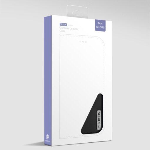 Samsung S10 kaaned nahast kaarditasku ja rahataskuga DUX DUCIS Wish must 19