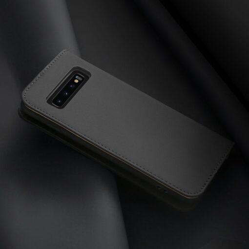 Samsung S10 kaaned nahast kaarditasku ja rahataskuga DUX DUCIS Wish must 2