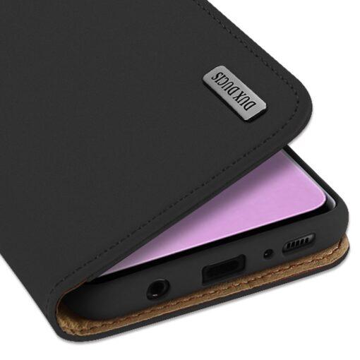 Samsung S10 kaaned nahast kaarditasku ja rahataskuga DUX DUCIS Wish must 3