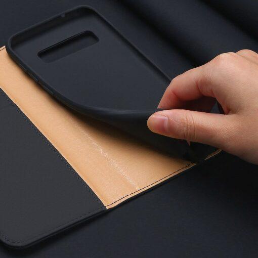 Samsung S10 kaaned nahast kaarditasku ja rahataskuga DUX DUCIS Wish must 8