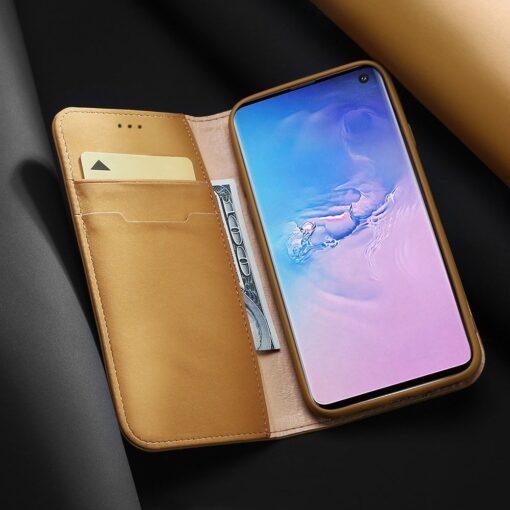 Samsung S10 kaaned nahast kaarditasku ja rahataskuga DUX DUCIS Wish punane 15
