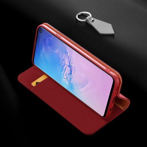 Samsung S10 kaaned nahast kaarditasku ja rahataskuga DUX DUCIS Wish punane 17
