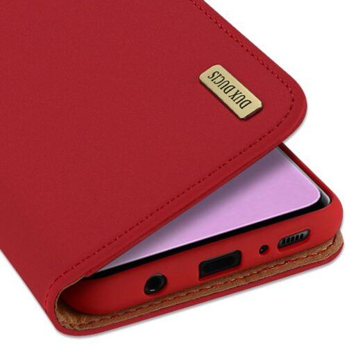 Samsung S10 kaaned nahast kaarditasku ja rahataskuga DUX DUCIS Wish punane 2