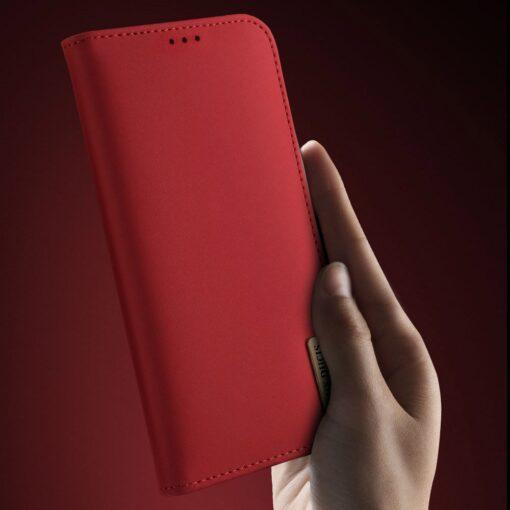 Samsung S10 kaaned nahast kaarditasku ja rahataskuga DUX DUCIS Wish punane 4