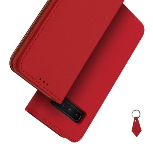 Samsung S10 kaaned nahast kaarditasku ja rahataskuga DUX DUCIS Wish punane 5