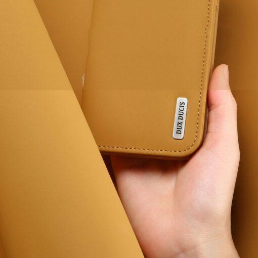 Samsung S10 kaaned nahast kaarditasku ja rahataskuga DUX DUCIS Wish punane 7