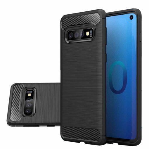 Samsung S10 umbris silikoonist Carbon must