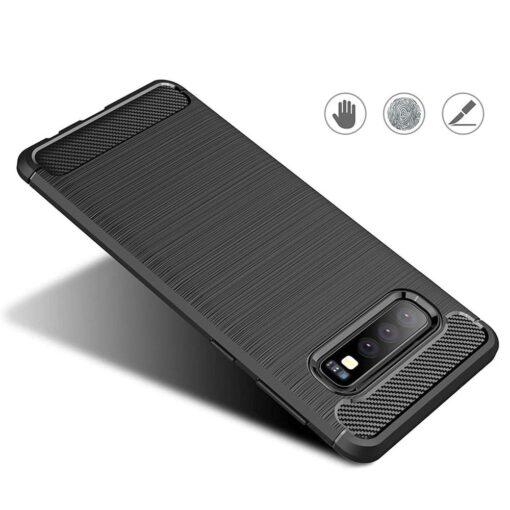 Samsung S10 umbris silikoonist Carbon sinine 2