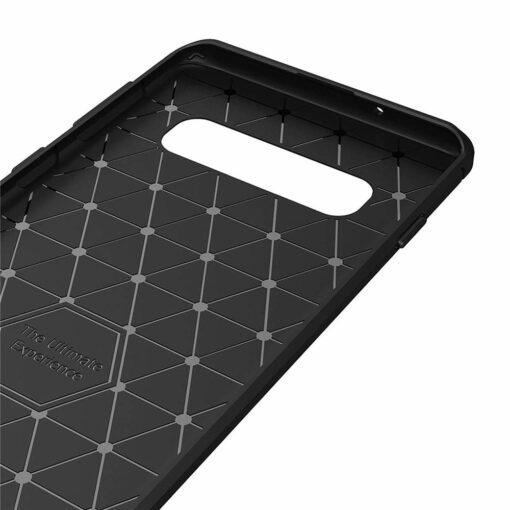 Samsung S10 umbris silikoonist Carbon sinine 4