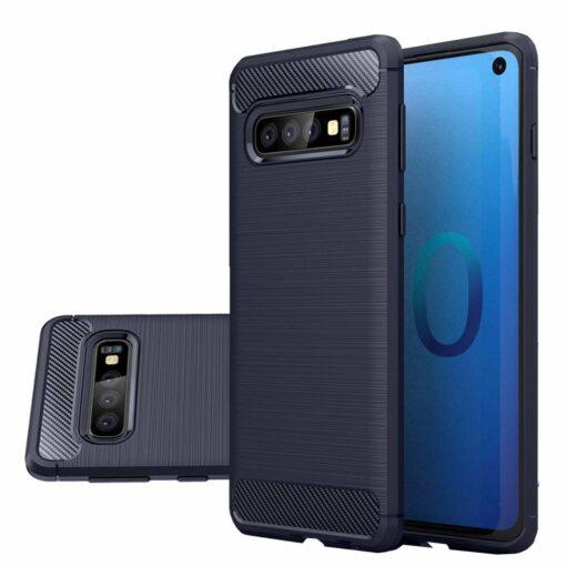 Samsung S10 umbris silikoonist Carbon sinine