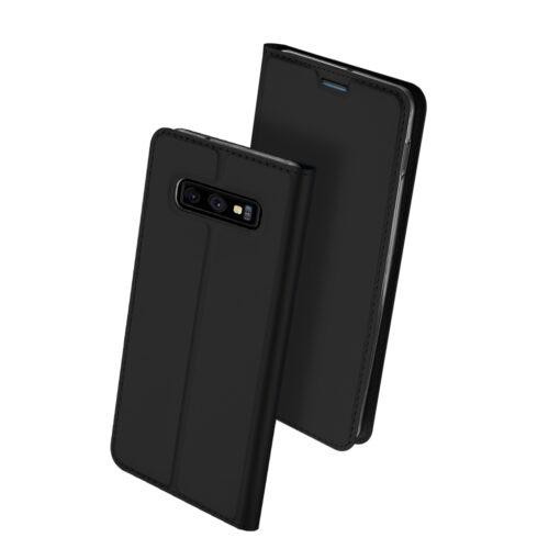 Samsung S10e kunstnahast kaaned DUX DUCIS Skin Pro Bookcase must 1