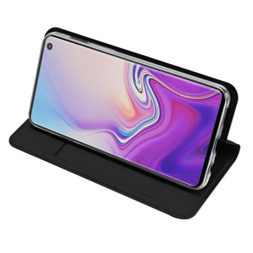 Samsung S10e kunstnahast kaaned DUX DUCIS Skin Pro Bookcase must 4