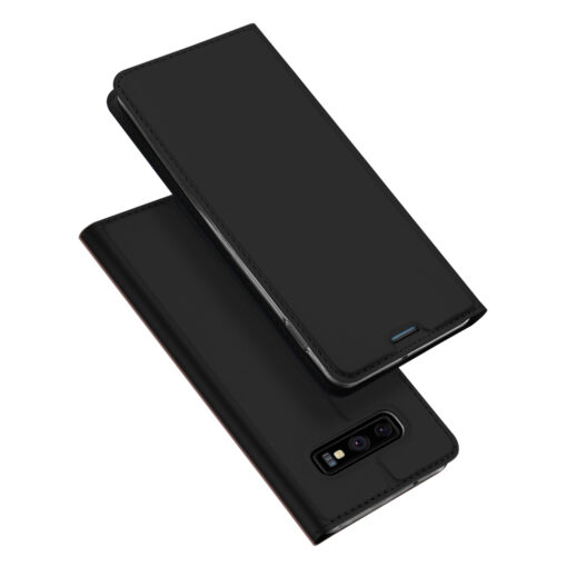Samsung S10e kunstnahast kaaned DUX DUCIS Skin Pro Bookcase must