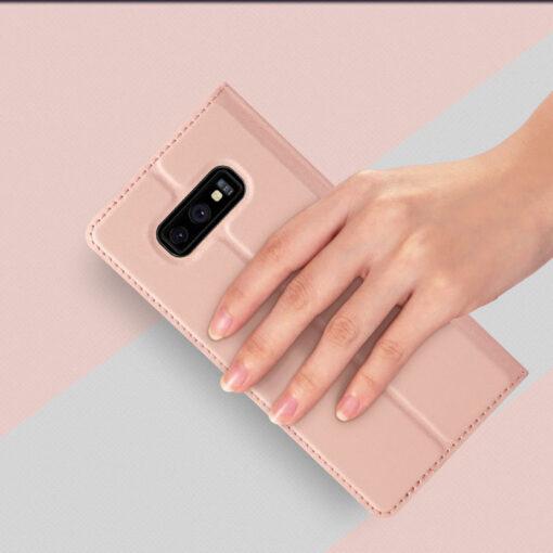 Samsung S10e kunstnahast kaaned DUX DUCIS Skin Pro Bookcase must 6