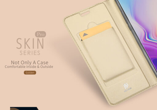 Samsung S10e kunstnahast kaaned DUX DUCIS Skin Pro Bookcase must 8