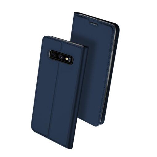 Samsung S10e kunstnahast kaaned DUX DUCIS Skin Pro Bookcase sinine 1