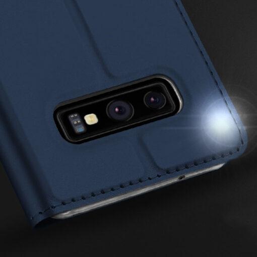 Samsung S10e kunstnahast kaaned DUX DUCIS Skin Pro Bookcase sinine 11