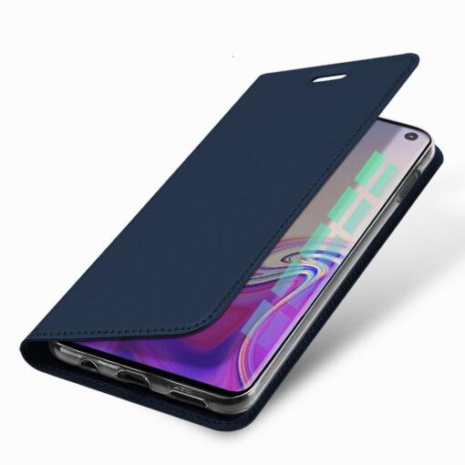 Samsung S10e kunstnahast kaaned DUX DUCIS Skin Pro Bookcase sinine 12