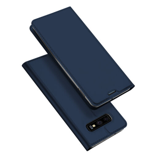Samsung S10e kunstnahast kaaned DUX DUCIS Skin Pro Bookcase sinine
