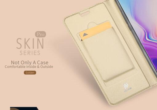 Samsung S10e kunstnahast kaaned DUX DUCIS Skin Pro Bookcase sinine 8