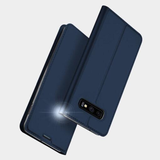 Samsung S10e kunstnahast kaaned DUX DUCIS Skin Pro Bookcase sinine 9
