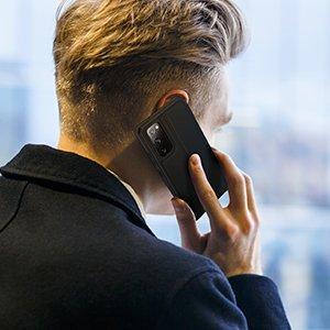 Samsung S20 FE kunstnahast kaaned kaarditaskuga DUX DUCIS Skin Pro must 13