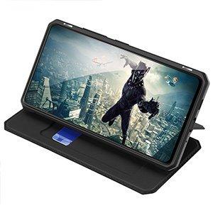Samsung S20 FE kunstnahast kaaned kaarditaskuga DUX DUCIS Skin Pro must 16