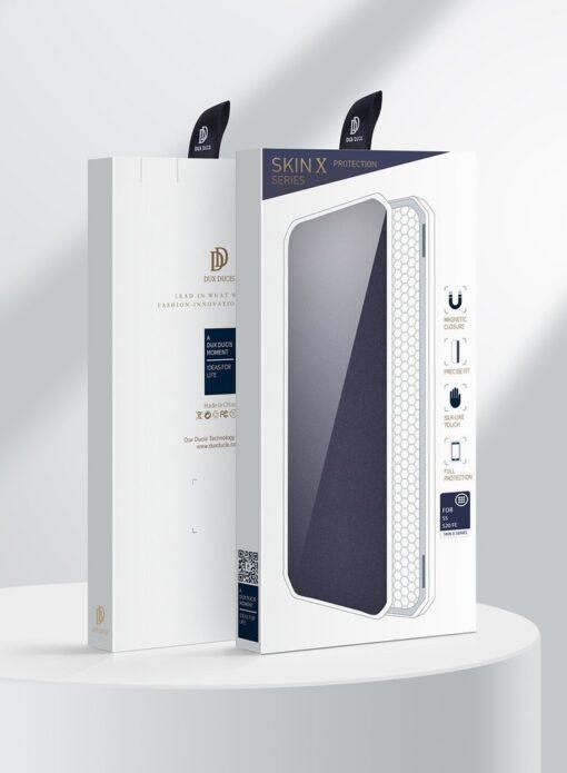 Samsung S20 FE kunstnahast kaaned kaarditaskuga DUX DUCIS Skin Pro must 4