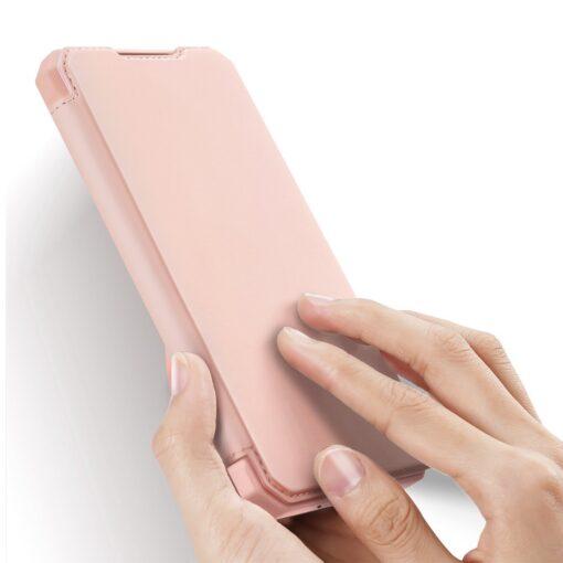 Samsung S20 FE kunstnahast kaaned kaarditaskuga DUX DUCIS Skin Pro roosa 1