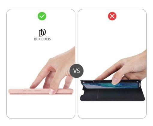 Samsung S20 FE kunstnahast kaaned kaarditaskuga DUX DUCIS Skin Pro roosa 11