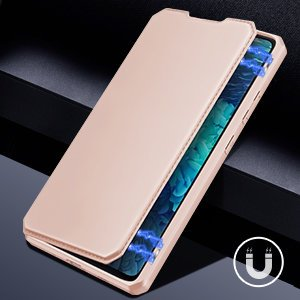 Samsung S20 FE kunstnahast kaaned kaarditaskuga DUX DUCIS Skin Pro roosa 14