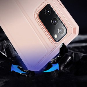 Samsung S20 FE kunstnahast kaaned kaarditaskuga DUX DUCIS Skin Pro roosa 15