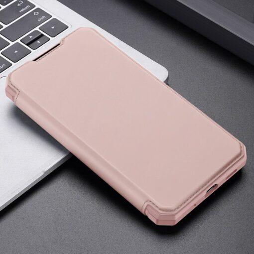 Samsung S20 FE kunstnahast kaaned kaarditaskuga DUX DUCIS Skin Pro roosa 20