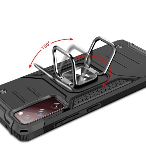 Samsung S20 FE tugev umbris Ring Armor plastikust taguse ja silikoonist nurkadega roosa 4