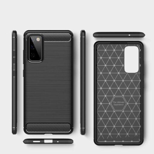 Samsung S20 FE umbris silikoonist Carbon must 2