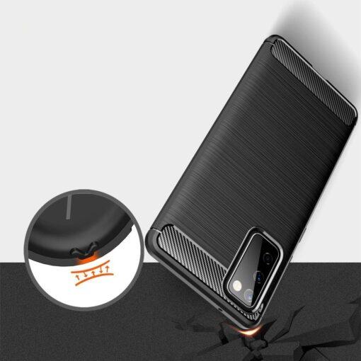 Samsung S20 FE umbris silikoonist Carbon must 3