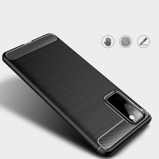 Samsung S20 FE umbris silikoonist Carbon must 4