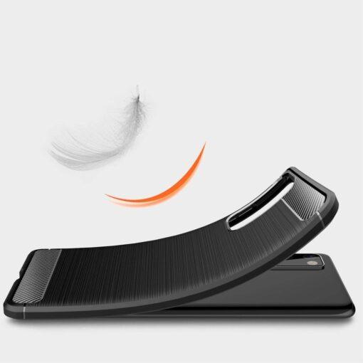 Samsung S20 FE umbris silikoonist Carbon must 5