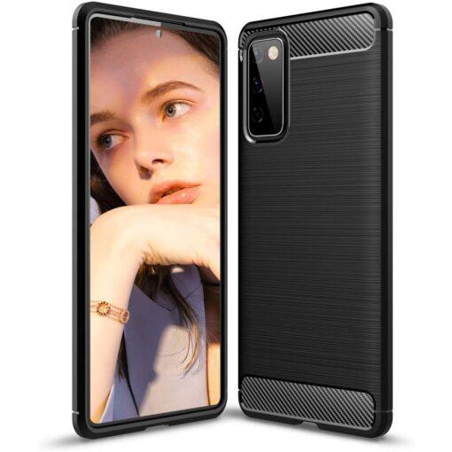 Samsung S20 FE umbris silikoonist Carbon must