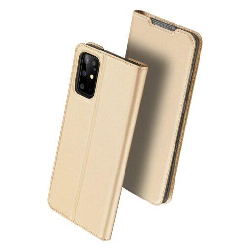 Samsung S20 Plus kunstnahast kaaned DUX DUCIS Skin Pro Bookcase kuldne 1