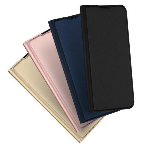 Samsung S20 Plus kunstnahast kaaned DUX DUCIS Skin Pro Bookcase kuldne 11