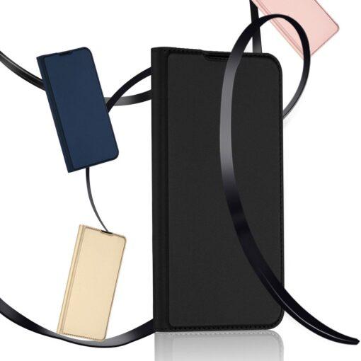 Samsung S20 Plus kunstnahast kaaned DUX DUCIS Skin Pro Bookcase kuldne 16