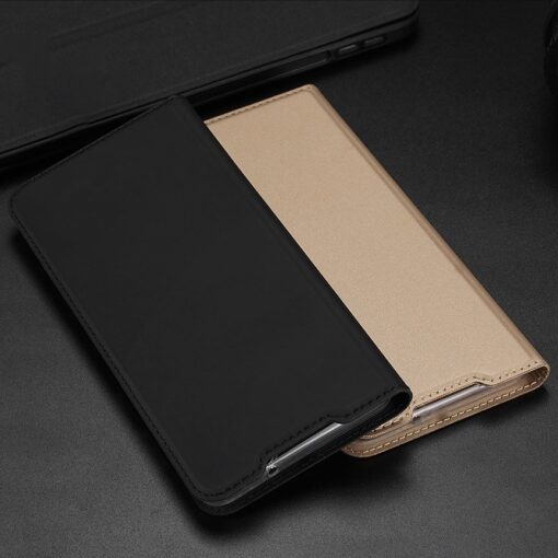 Samsung S20 Plus kunstnahast kaaned DUX DUCIS Skin Pro Bookcase kuldne 19
