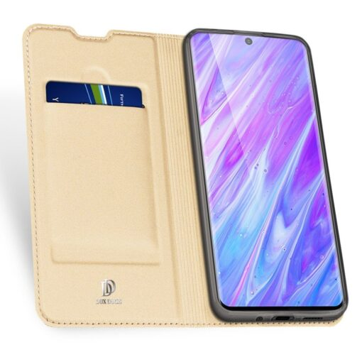 Samsung S20 Plus kunstnahast kaaned DUX DUCIS Skin Pro Bookcase kuldne 2