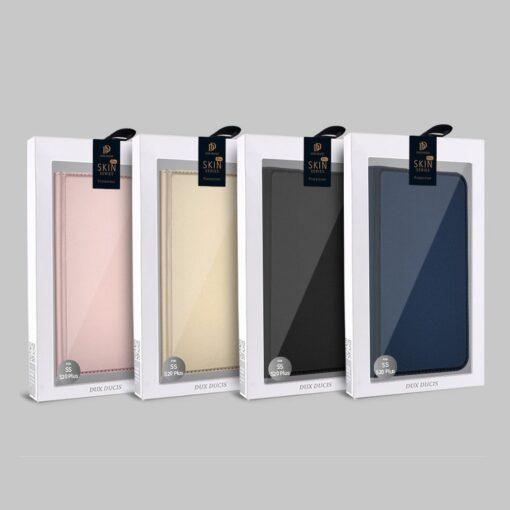 Samsung S20 Plus kunstnahast kaaned DUX DUCIS Skin Pro Bookcase kuldne 21
