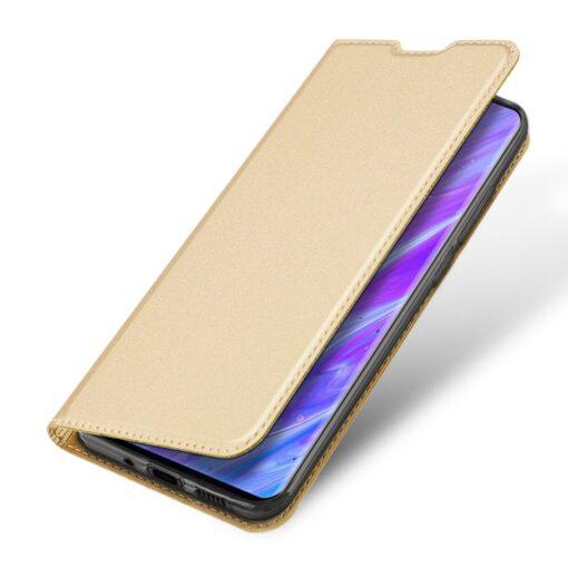 Samsung S20 Plus kunstnahast kaaned DUX DUCIS Skin Pro Bookcase kuldne 3